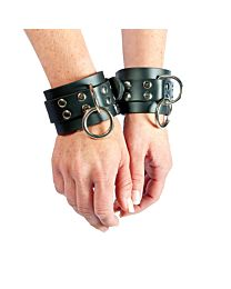 Strict Leather Rubber Locking Wrist Restraints 1