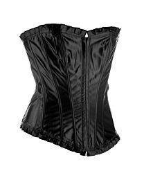 Black Vivian Ruffle Corset 1