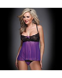 Coquette Sweethearts In Mesh Baby Doll & G-String 1