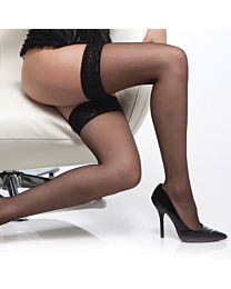 Coquette Sheer Stockings With Lace Top 1