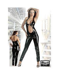 Black Level Ringed PVC Catsuit 1