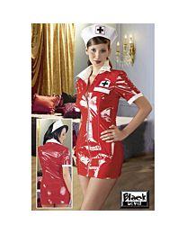 Black Level Red PVC Nurse Uniform 1
