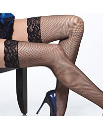 Coquette Fishnet Stockings with Lace Top 1