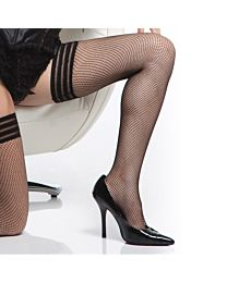Coquette Fishnet Stockings with Triple Elastic Top 1