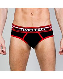 Timoteo Double Crossed Brief Black 1