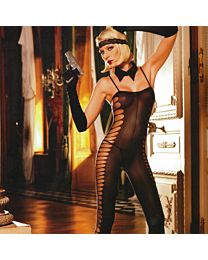 Baci Sheer Jacquard Bodystocking 1