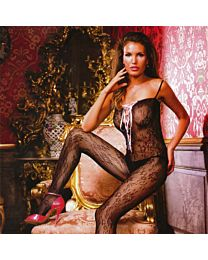 Baci Flower Lace-Up Bodystocking 1
