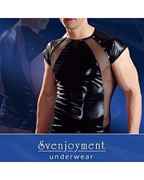 Svenjoyment Wetlook and Sheer Shirt 1