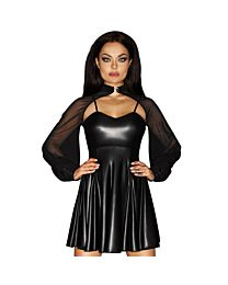 Noir Handmade Immoral Wet Look & Tulle Skater Dress 1