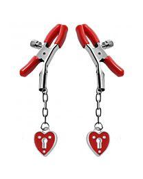 Master Series Captive Heart Padlock Nipple Clamps 1