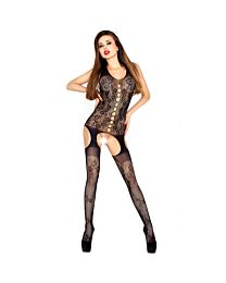 Passion Floral Lace Cami Suspender Bodystocking 1