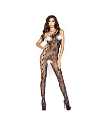 Passion One Shoulder Floral Lace Bodystocking 1