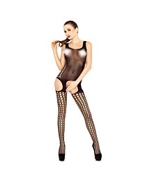Passion Opaque Cami Suspender Bodystocking 1