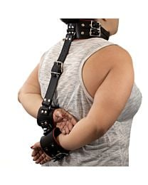 Neck to Back Bondage Collar with Hand Cuffs 1