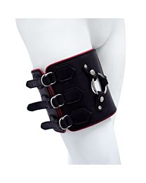 UberKinky Leather Thigh Strap On Harness 1