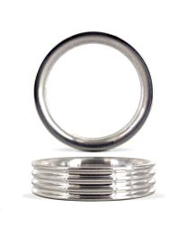 Gear Essentials Half Screw Aluminium Cock Ring 1