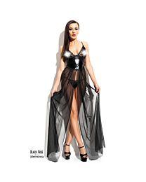 Demoniq Anastasia Wet Look & Lace Gown 1