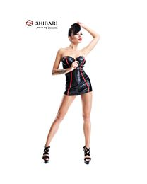 Demoniq Yukiko Wet Look Mini Dress 1