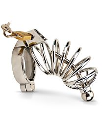 Impound Corkscrew Male Chastity Device with Hollow Penis Plug 1