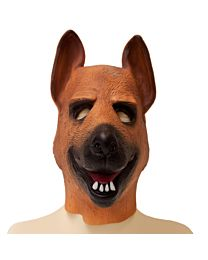 German Shepherd Latex Dog Hood 1