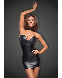 Muse Powerwetlook Mini Dress with Eco-Leather Cups 1