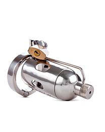 The Pleasure Dome Stainless Steel Chastity Cage 1