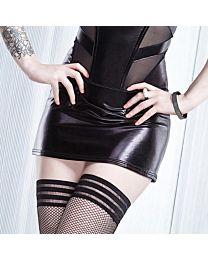 Coquette Darque Wet Look Mini Skirt 1