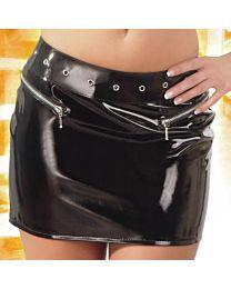 Black Level PVC Mini Skirt 1