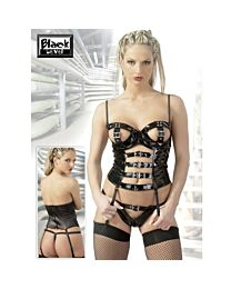 Black Level PVC Basque Top and G-String 1