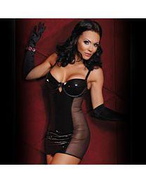 Bassaya Pola Wet Look PVC Dress 1