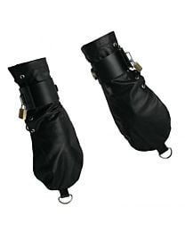Strict Leather Bondage Mittens