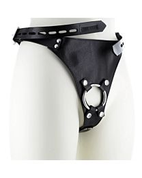 Strict Leather Male Chastity Device Harness 1