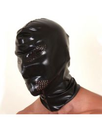 Latex Hood with Eye and Mouth Perforations 1