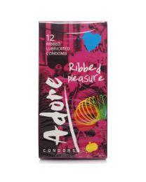 Pasante Adore Ribbed Condoms 1