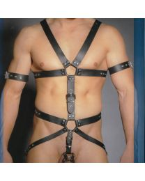 Zado Leather Body Harness with Gates of Hell 1
