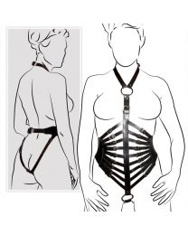 Zado Ladies Leather Body Harness 1