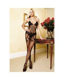 Leg Avenue Faux Garter Corset Bodystocking 1