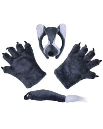 Wolf Mask with Ears Set 1