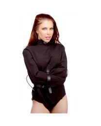 Strict Leather Black Canvas Straitjacket 1