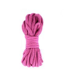 UberKinky Braided Cotton Bondage Rope Pink 32ft 10m 1