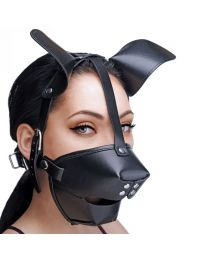 Master Series Pup Puppy Play Hood and Breathable Ball Gag 1