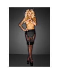 Noir Handmade Immoral Sophisticate Wet Look & Tulle Suspender Skirt 1