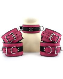 UberKinky Five Piece Pink Locking Restraints Set 1