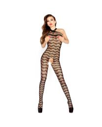 Passion Horizontal Striped Stringy Bodystocking 1