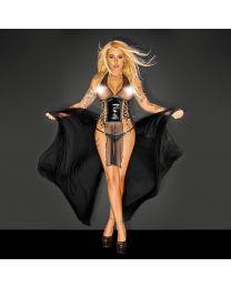 Noir Handmade Tulle & PVC Long Dress 1