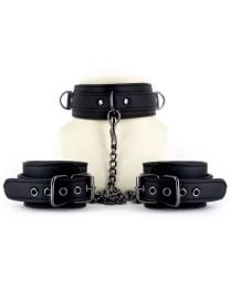 EasyToys Leather Collar With Handcuffs 1