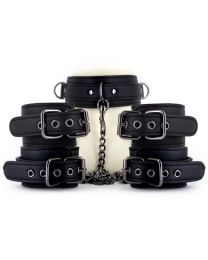 EasyToys Fetish Set with Collar, Ankle and Wrist Restraints 1