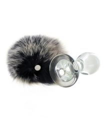 Crystal Minx Magnetic Bunny Tail Butt Plug 2.7 Inches 1