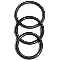 Sex & Mischief Nitrile Cock Ring 3 Pack 3