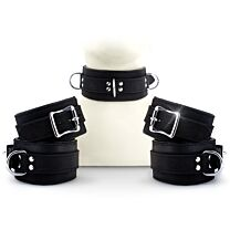 UberKinky Five Piece Locking Nubuck Restraints Set 1